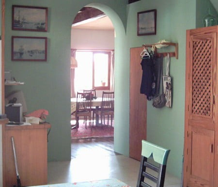 10 kitchen thru` into dining area
