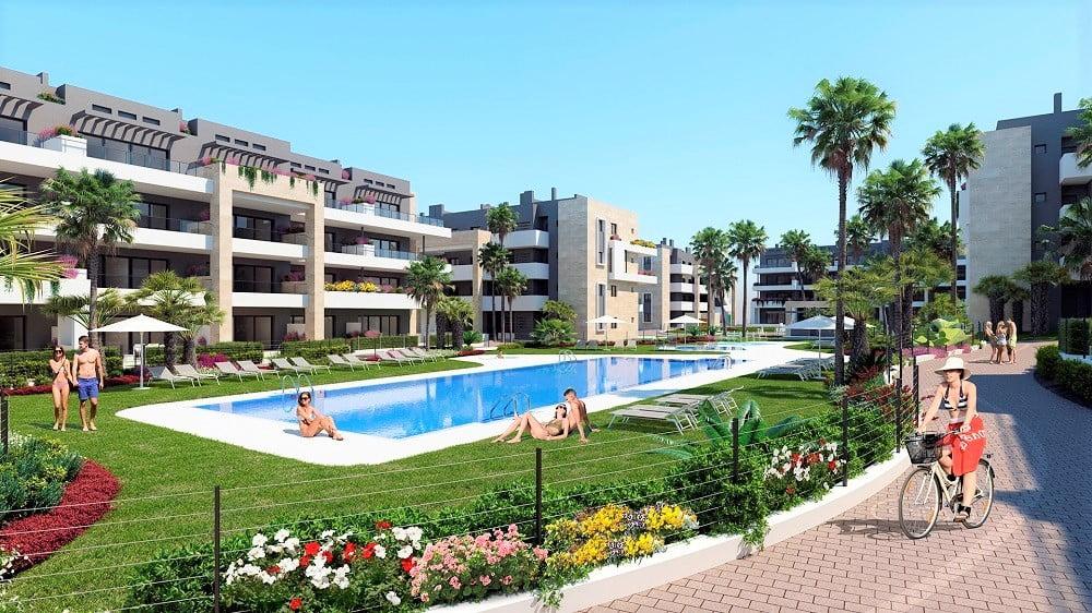 Nybyggda lägenheter i Playa Flamenca, Orihuela Costa
